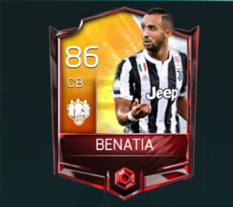 benatia fifa mobile team of the week 3