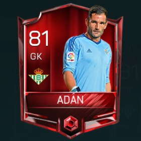 Antonio Adán 81 OVR Fifa Mobile Base Elite Player