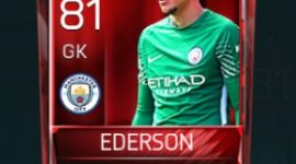 Ederson 81 OVR Fifa Mobile Base Elite Player