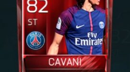 Edinson Cavani 82 OVR Fifa Mobile Base Elite Player