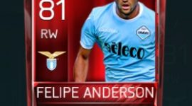 Felipe Anderson 81 OVR Fifa Mobile Base Elite Player