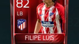 Filipe Luís 82 OVR Fifa Mobile Base Elite Player