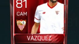 Franco Vázquez 81 OVR Fifa Mobile Base Elite Player