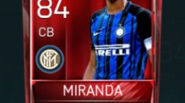 João Miranda 84 OVR Fifa Mobile Base Elite Player