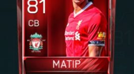 Joël Matip 81 OVR Fifa Mobile Base Elite Player