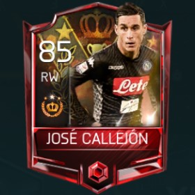 José Callejón 85 OVR Fifa Mobile Tournament Player