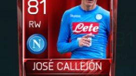 José Callejón 81 OVR Fifa Mobile Base Elite Player