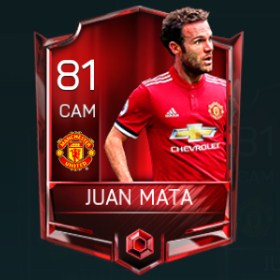 Juan Mata 81 OVR Fifa Mobile Base Elite Player