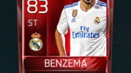 Karim Benzema 83 OVR Fifa Mobile Base Elite Player