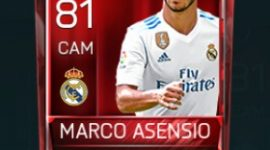 Marco Asensio 81 OVR Fifa Mobile Base Elite Player
