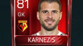 Orestis Karnezis 81 OVR Fifa Mobile Base Elite Player