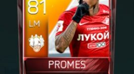 Quincy Promes 81 OVR Fifa Mobile TOTW Player