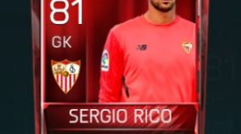 Sergio Rico 81 OVR Fifa Mobile Base Elite Player