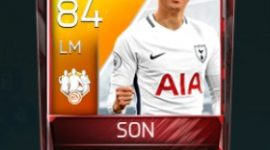Son Heung-min 84 OVR Fifa Mobile TOTW Player