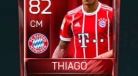Thiago Alcântara 82 OVR Fifa Mobile Base Elite Player