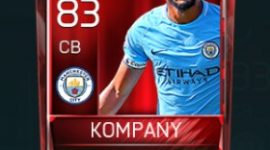 Vincent Kompany 83 OVR Fifa Mobile Base Elite Player