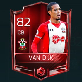 Virgil van Dijk 82 OVR Fifa Mobile Base Elite Player