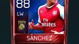 Alexis Sánchez 88 OVR Fifa Mobile TOTY Player