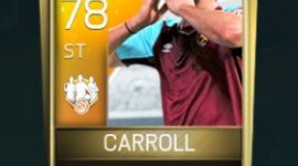 Andy Carroll 78 OVR Fifa Mobile TOTW Player