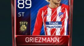 Antoine Griezmann 89 OVR Fifa Mobile TOTY Player