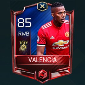 Antonio Valencia 85 OVR Fifa Mobile TOTY Player