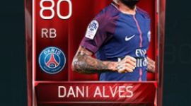 Dani Alves 80 OVR Fifa Mobile Base Elite Player