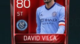 David Villa 80 OVR Fifa Mobile Base Elite Player