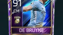Kevin De Bruyne 91 OVR Fifa Mobile TOTY Player