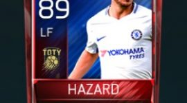 Eden Hazard 89 OVR Fifa Mobile TOTY Player