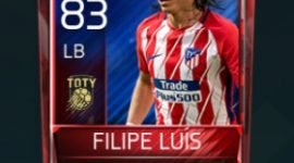 Filipe Luís 83 OVR Fifa Mobile TOTY Player