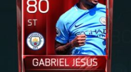 Gabriel Jesus 80 OVR Fifa Mobile Base Elite Player
