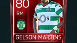 Gelson Martins 80 OVR Fifa Mobile Base Elite Player
