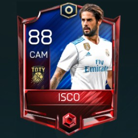 Isco 88 OVR Fifa Mobile TOTY Player