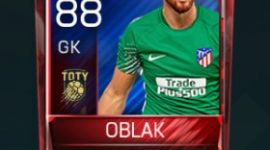 Jan Oblak 88 OVR Fifa Mobile TOTY Player