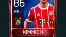 Joshua Kimmich 86 OVR Fifa Mobile TOTY Player