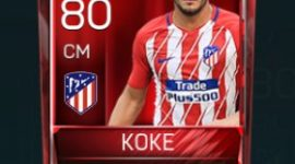 Koke 80 OVR Fifa Mobile Base Elite Player
