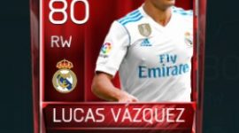 Lucas Vázquez 80 OVR Fifa Mobile Base Elite Player