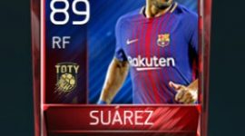 Luis Suárez 89 OVR Fifa Mobile TOTY Player