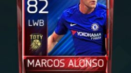 Marcos Alonso 82 OVR Fifa Mobile TOTY Player