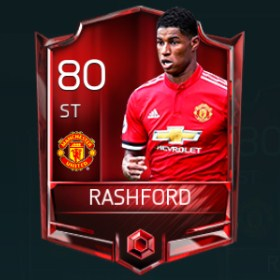 Marcus Rashford 80 OVR Fifa Mobile Base Elite Player