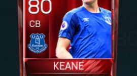 Michael Keane 80 OVR Fifa Mobile Base Elite Player