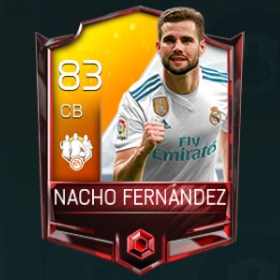 Nacho Fernández 83 OVR Fifa Mobile TOTW Player