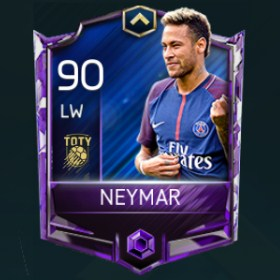 Neymar 90 OVR Fifa Mobile TOTY Player