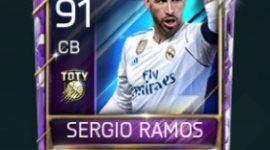 Sergio Ramos 91 OVR Fifa Mobile TOTY Player