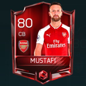 Shkodran Mustafi 80 OVR Fifa Mobile Base Elite Player