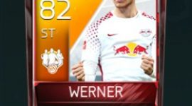 Timo Werner 82 OVR Fifa Mobile TOTW Player