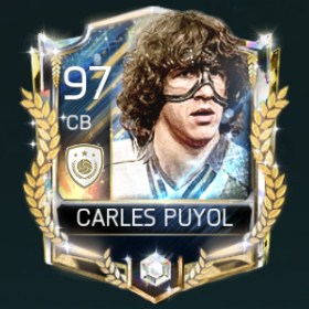 Carles Puyol 97 OVR Fifa Mobile 18 Prime Icons Player
