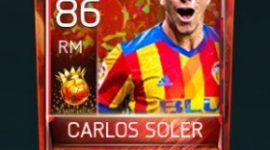 Carlos Soler 86 OVR Fifa Mobile 18 Carniball Player