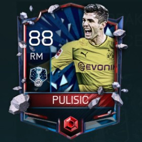 Christian Pulisic 88 OVR Fifa Mobile 18 Record Breaker Player