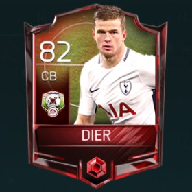 Eric Dier CB 82 OVR Fifa Mobile Matchups Player